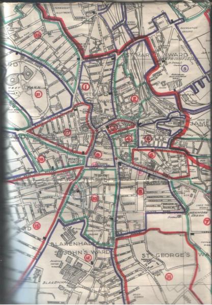 Wolverhampton Police Map 1929